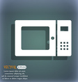 microwave icon On the blue-green abstract vector image