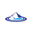 mountains lake logo image vector image vector image