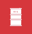 oil barrel white vector image