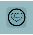 Pale blue cardiology sign vector image vector image