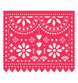 papel picado floral template design vector image vector image