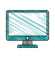 pc monitor electronic vector image