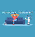 personal robot assistent vector image vector image