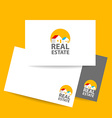 real estate logo identity vector image vector image