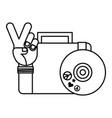 retro hippie style vector image vector image