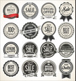 retro vintage sale badges and labels collection vector image