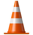 road safety cone vector image vector image