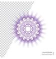 sahasrara - crown chakra human body vector image vector image