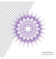 sahasrara - crown chakra of human body vector image vector image