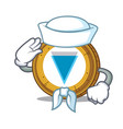 sailor verge coin character cartoon vector image vector image