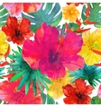 Seamless floral background Tropical colorful vector image vector image