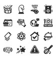 set business icons such as atom christmas vector image vector image
