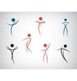 set of line man human shapes Use for vector image vector image