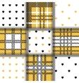 Set of seamless twill plaid tartan pattern and vector image