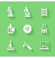 Set of white chemistry icons vector image vector image