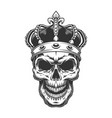 skull in crown vector image vector image
