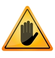 stop - orange triangle sign vector image vector image