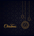 stylish merry christmas dark background with trees vector image vector image