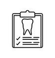 tooth checkup icon vector image vector image