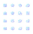 trendy tableware gradient linear icons set vector image vector image