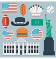 USA flat icon set vector image vector image