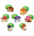 various houses vector image vector image