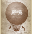 Vintage hot air balloon vector image vector image