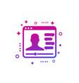 webinar online web seminar distant learning icon vector image