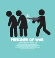 Prisoner Of War Symbol vector image