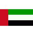 Flag of the United Arab Emirates vector image