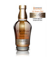 bourbon bottle realistic product packaging vector image