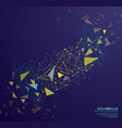 abstract geometric background with connecting vector image vector image