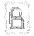 alphabet of printed circuit boards vector image vector image