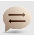 Arrow simple sign Brown gradient icon on bubble vector image vector image