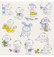 baboy doodle set vector image vector image