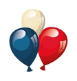 ballons with usa patriotic colors vector image