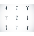 black tie icons set vector image vector image