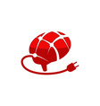 brain plug logo design template vector image