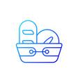 bread basket gradient linear icon vector image vector image