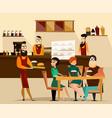 burger bar concept vector image