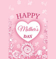 colorful floral mothers day poster vector image vector image