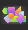 colorful geometric shapes composition vector image