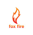 fire or fox tail logo design vector image
