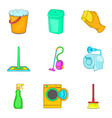 floor cleaning icon set cartoon style vector image vector image
