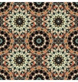 Flower Pattern Boho Brown Black Intricate vector image vector image