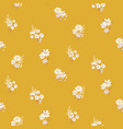 flowers daisy vintage colors seamless vector image vector image