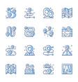 gps navigator geo tag line icons set vector image