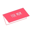 Greeting card for Mom icon vector image