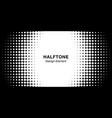 halftone circle frame horizontal background black vector image vector image