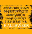halloween cartoon type font set vector image vector image